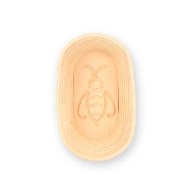 Gärkorb mit Motiv Biene oval lang 1 kg